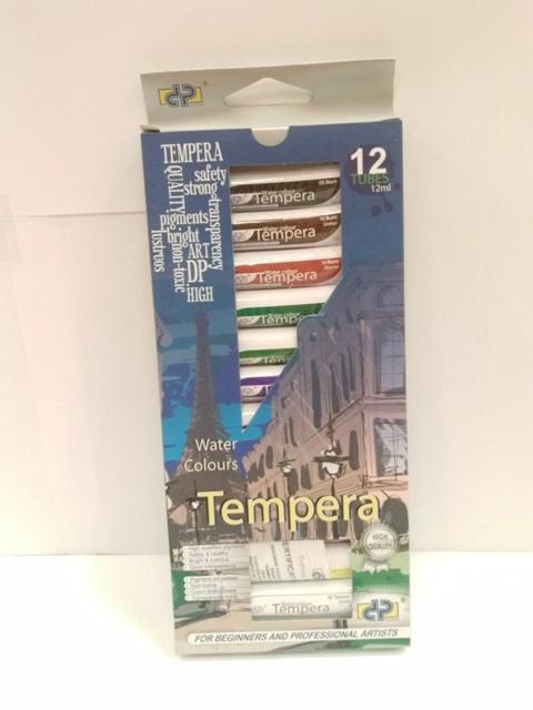 Tempera DP,12ml/tub,12culori