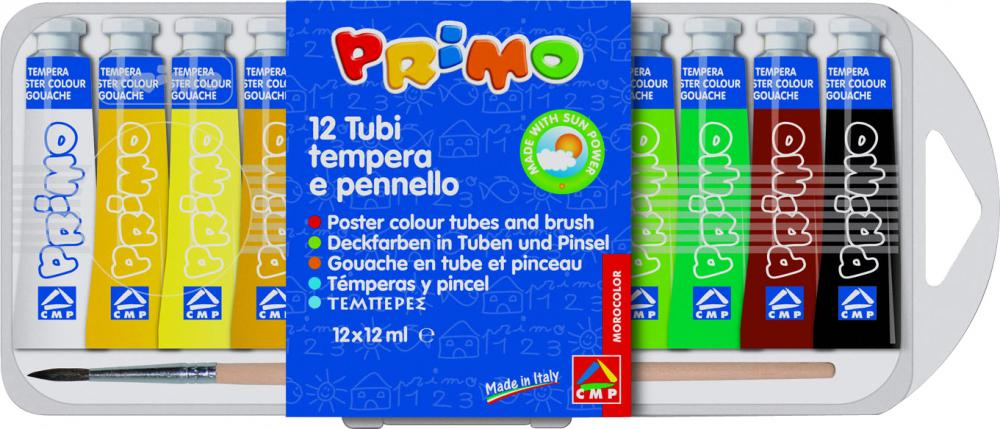 Tempera Morocolor,12ml/tub,12culori