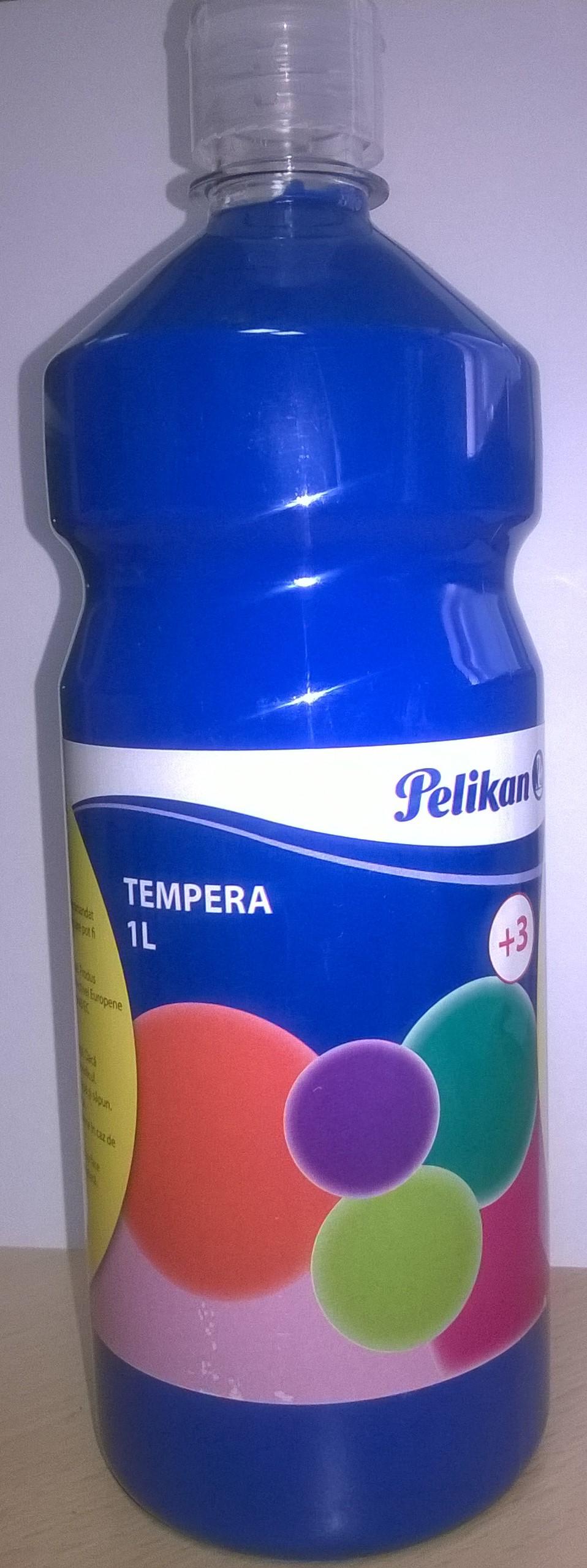 Tempera Pelikan,1L,azuriu