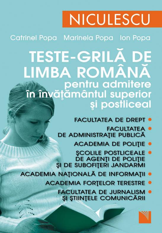 TESTE GRILA DE LB ROMAN A ADMITERE INVATAMANTUL