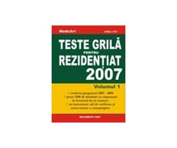 Teste grila pentru rezidentiat 2007- volumul 1, Laviniu, Marius Anghel, Negru