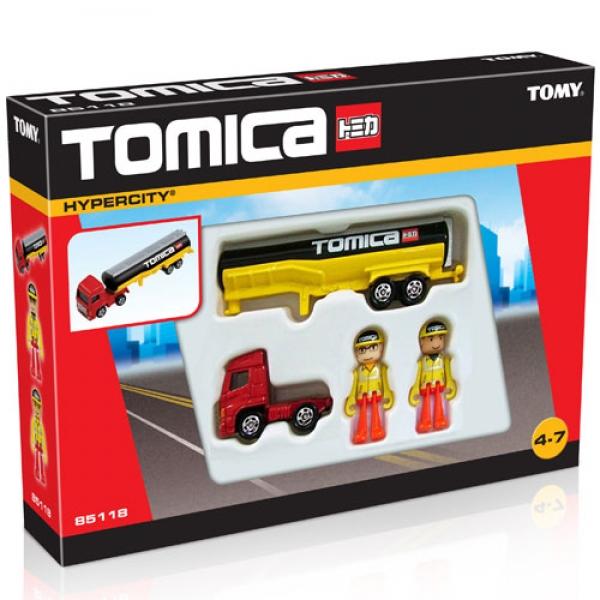 TOMICA Set camion mare si figurine