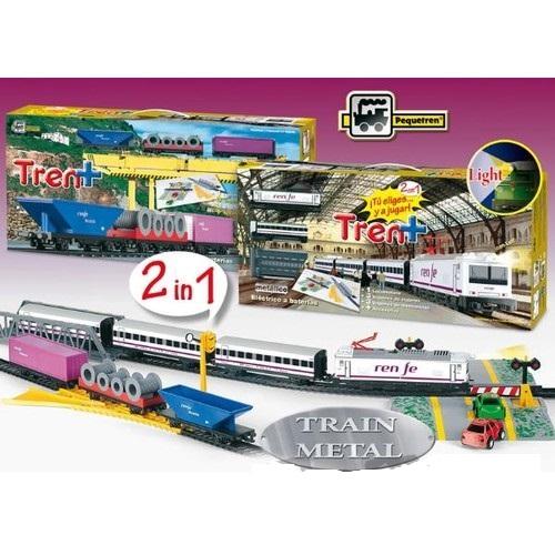 Tren marfa,pasageri,lumini, 2/set