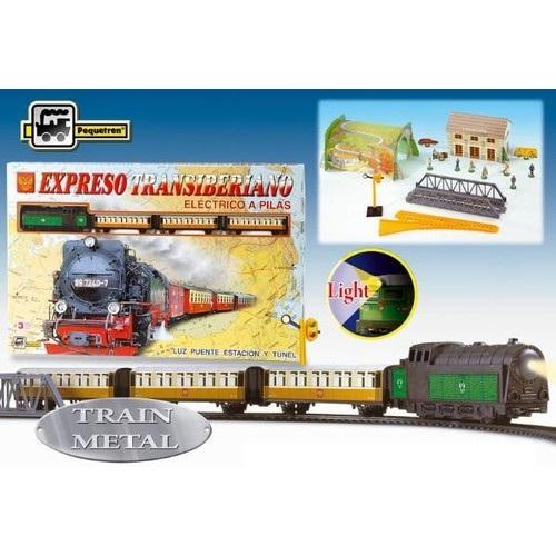 Tren TransSiberian,metal,lumini,pod,tunel