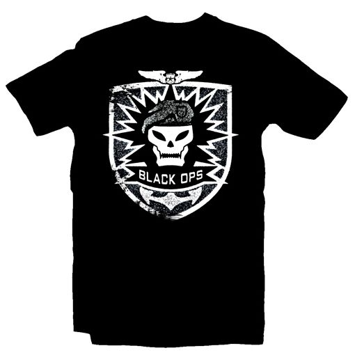 CoD7 - BO T-Shirt - Skull, Black,XL