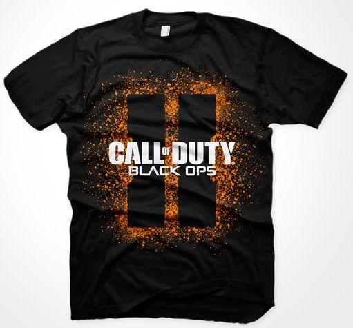 CoD8 - BO II T-Shirt - Splash Logo,L