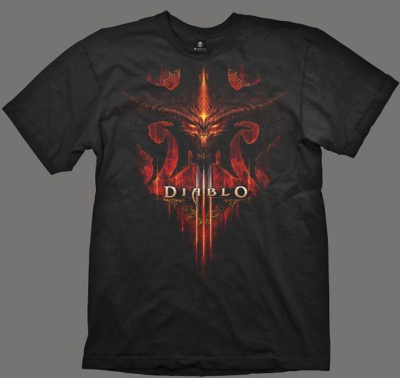 Diablo III T-Shirt - Burning, Black, XL