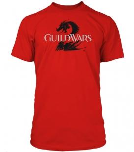 Guild Wars 2 T-Shirt - Logo Black Red,L