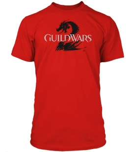 Guild Wars 2 T-Shirt - Logo Black Red,XL