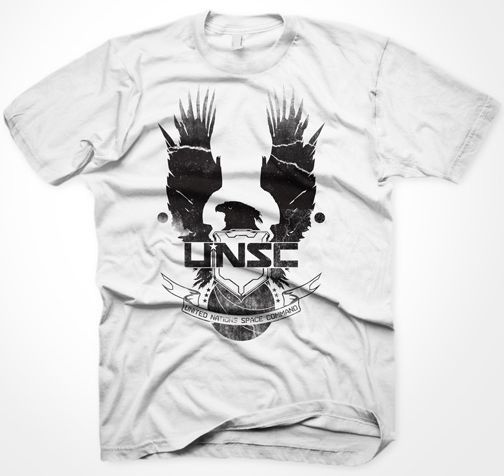 Halo 4 - New UNSC Logo, white,XL