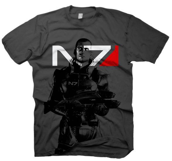 Mass Effect 2 T-Shirt - X-Ray Shepard,XL