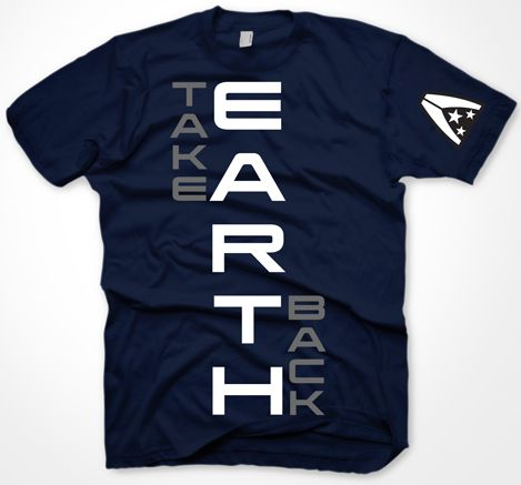 ME 3 T-Shirt - Take Earth Back, navy,M
