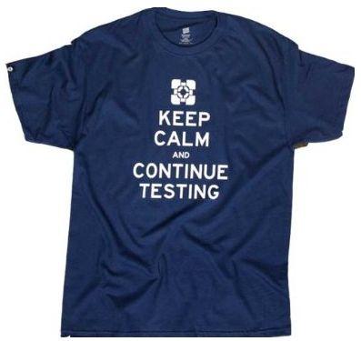 Portal 2 - Keep Calm, black,L