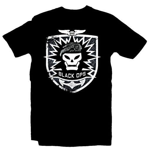 CoD7 - BO T-Shirt - Skull, Black,M
