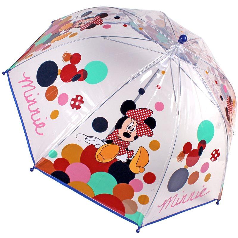 Umbrela tranparenta 45cm,Minnie,Smile