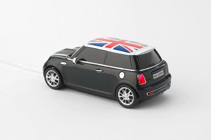 Mouse  Mini Cooper S cu fir,negru