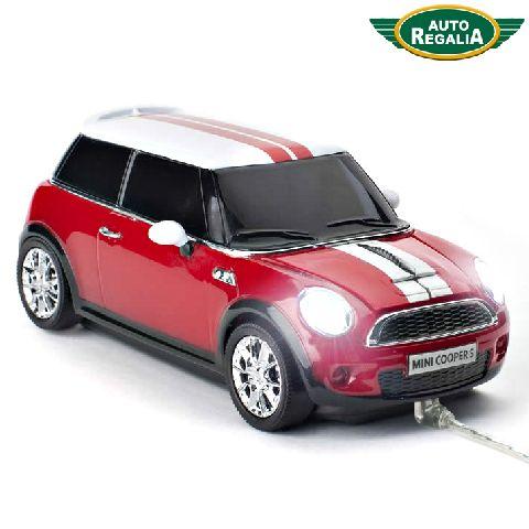 Mouse Mini Cooper S cu fir,rosu