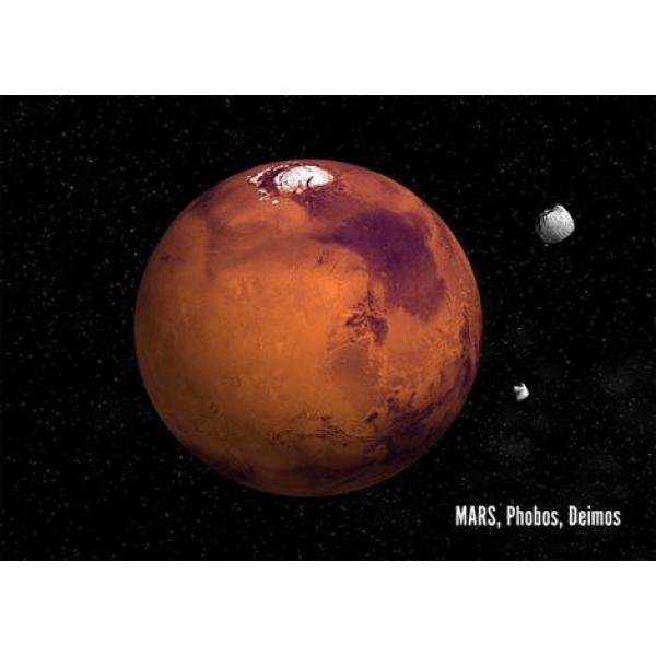 Vedere 3D, Marte, Phobos, Deimos
