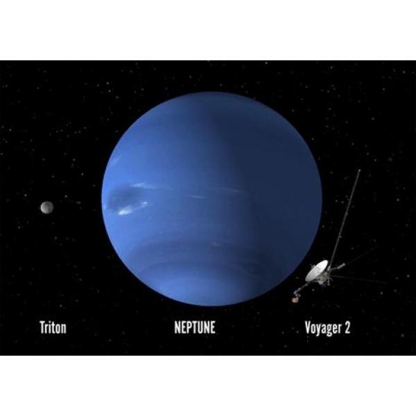 Vedere 3D Neptun, Triton, Voyager 2