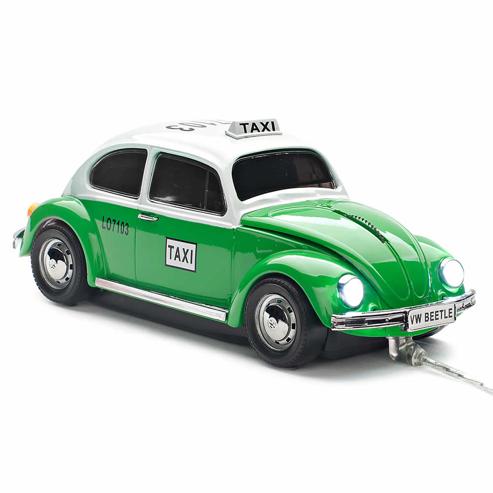 Mouse VW Beetle Mexico Taxi cu fir,vintage verde