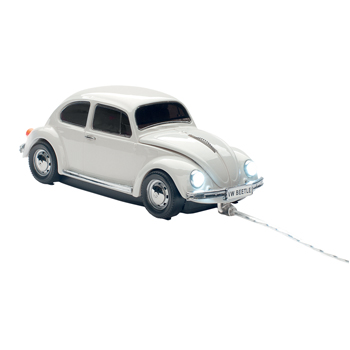 Mouse VW Beetle cu fir,vintage gri