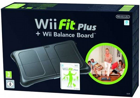 WII FIT PLUS WITH BALANCE BOARD BLACK