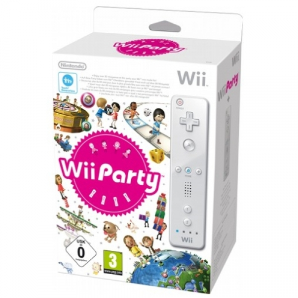 WII PARTY+REMOTE WHITE WII