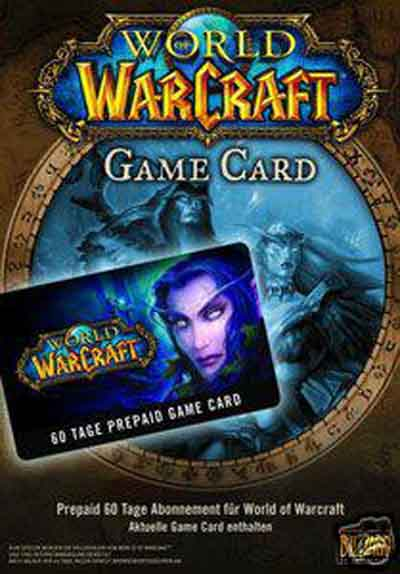 World Of Warcraft Prepay Game Card