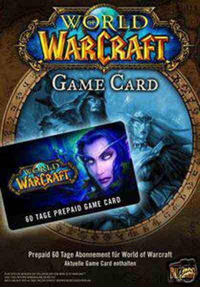 World Of Warcraft Prepay Game Card