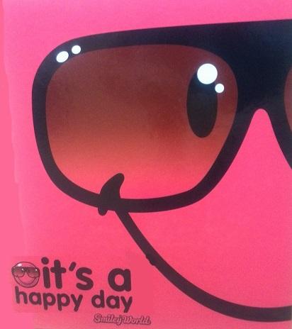 zzCaiet mec.A4 Smiley Happy day,4in,4.5cm