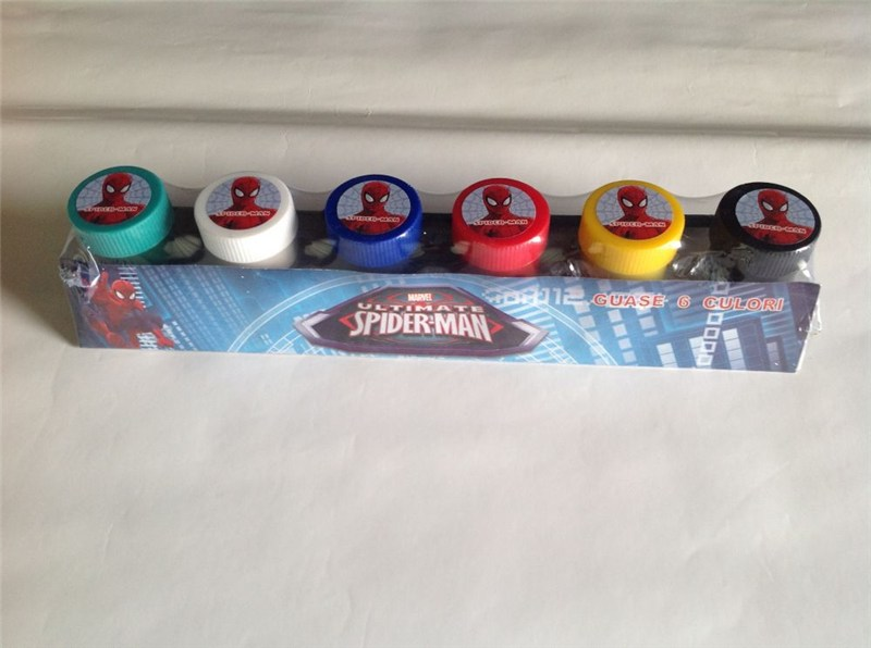 zzGuase 6culori,2pensule,Spiderman