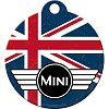 NA Breloc rotund 48018 Mini - Union Jack