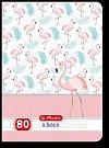 Caiet A4,80f,Flamingo,dictando