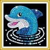 Set creativ Sequin 60,Delfin,17x17cm,Sequin Art,5ani+