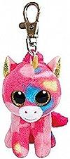 Breloc plus TY - Fantasia, Unicorn multicolor, 8.5 cm