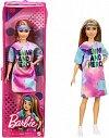 Papusa Barbie Fashionistas - cu parul blond si rochita sport