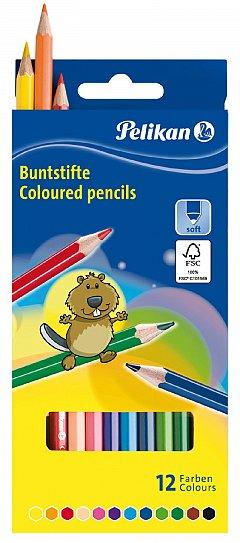 Creioane colorate Pelikan,12 buc/set
