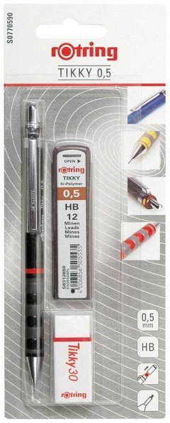 Set Tikky,creion mecanic+mine0.5+radiera