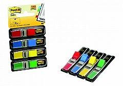 Index adeziv  Post-it, 12 x 43 mm, 4 x 35 file, culori neon 1