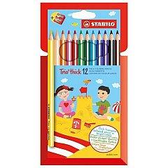 Creioane color.Stabilo Trio trick,12b/s+asc