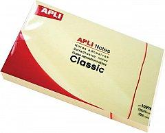 Notite adezive Apli, 75 x 75 mm, 100 file, galben, pastel