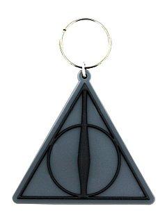 Breloc Silicon Harry Potter (Deathly Hallows Logo)