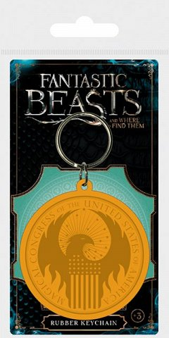 Breloc Silicon Fantastic Beasts (Macusa Logo)