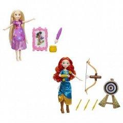 Papusa Disney,Princess,Merida/Rapunzel,cu accesorii