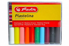 Plastilina Herlitz, 10 culori
