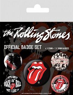 Set 5 insigne Rolling Stones (Classic)