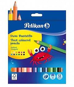 Creioane colorate,12b/set,Pelikan,Jumbo,asc.