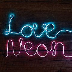 Cablu luminescent Fizz Neon Sign Effect, roz