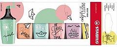 Textmarker Stabilo Boss,pastel,mini,6buc/set