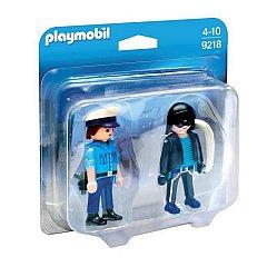 Playmobil-Figurine,Politist si hot,2buc/set